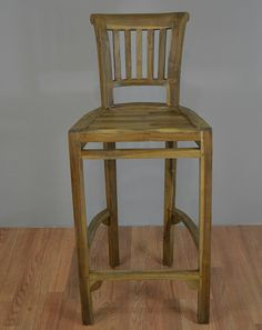 Patio Bar Chair from Solid Teak Wood