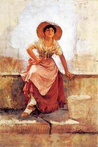 Florentine Flower Girl 1 - (Frank Duveneck)