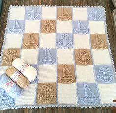 Good morning, we wish you happy friends tomorrow Crochet Doily Rug, Bobble Crochet, Bobble Stitch, Manta Crochet, Crochet Gifts, Easy Crochet, Crochet Stitches, Free Crochet, Baby Boy Crochet Blanket