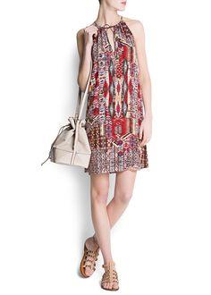 MANGO - Dress - Vestido estampado étnico