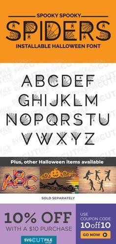Halloween Fonts, Halloween Items, Halloween Party Decor, Spooky Halloween, Halloween Makeup, Otf Font, Handmade Home Decor, Etsy Handmade, Party Invitations