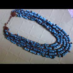 New Konplott Miranda 5 strand turquoise necklace Stunning stunning stunning sure to please accented with bronze konplott miranda Jewelry Necklaces