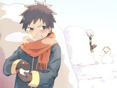 <3 Obito & Kakashi (Team Minato) - by そよか, [pixiv]