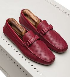Prada is RED HOT this season with these perforated leather driver loafers! Our favorite men's accessories here: http://balharbourshops.com/must-haves/mens-accessories