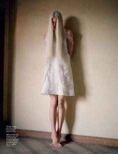 Kristen McMenamy: Love Magazine S/S '12 (NSFW)