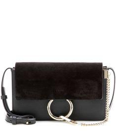 6cf42333d950 Faye Small Leather Shoulder Bag - Black - Chloe Shoulder bags