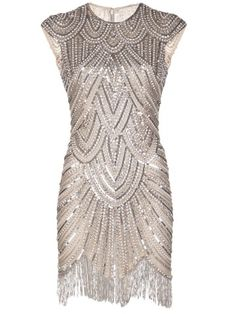 Naeem Khan Embellished Fringe Dress