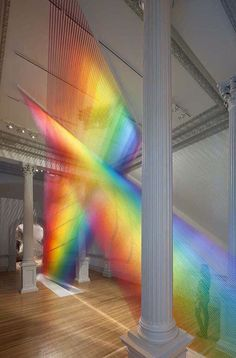 Rainbow made from strings