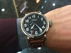 Zenith Pilot Montre d´aeronef Type 20 GMT, 48 mm