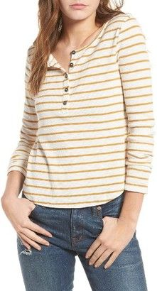 Shop Now - >  https://api.shopstyle.com/action/apiVisitRetailer?id=622206065&pid=uid6996-25233114-59 Women's Madewell Sound Ribbed Henley Tee  ...