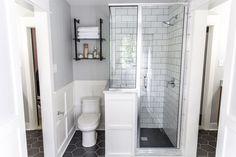 Silver Bathroom Acce - February 01 2019 at Bathroom Floor Tiles, Bathroom Renos, Shower Floor, Bathroom Renovations, Bathroom Ideas, Bath Ideas, Silver Bathroom, Small Bathroom, Master Bathroom