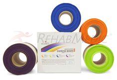 Rehab Medic Exercisers Bands (sin látex 23m)  Cintas elásticas sin látex.Diseñadas para rehabilitación   Desde 44€ http://www.rehabmedic.com/exercise-band-rehab-medic-sin-latex-11874.html