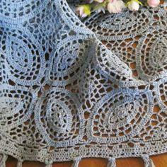 Womens Crochet Rosey Days Kimono with by honeysucklechild on Etsy
