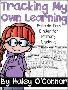 D Binder Editable Data Binder I created this data binder to have my first graders track their own learni Student Data Folders, Student Data Tracking, Data Binders, Student Data Notebooks, Student Goals, Teaching First Grade, First Grade Classroom, Leadership Notebook, Guided Reading Levels