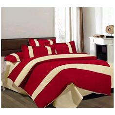 KING SIZE BEDDING SET OF 6 PIECES - REDUCED IN PRICE!!! DHS. 100.00  Set includes: 1 Duvet cover 220 x 240 1 Bed sheet 230 x 250 4 Pillow case 48 x 74