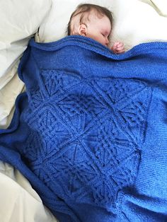 Make this gorgeous baby blanket from Knitty​ First Fall 2015 with just one skein of our Pound of Love! Get the yarn here: http://lby.co/ynxiAJ