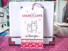 Cute card made by Christine Newman on her listgirl blog