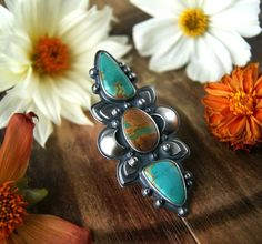 Choosing Peace - Turquoise Sterling Silver Ring