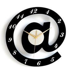 Stylish Alphabet Decorative Wall Clocks - White + Black (1 x AA) - USD $ 19.99