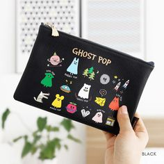 chemistry exam ___ Gunmangzeung Ghost pop cute illustration zipper pouch M by Gunmangzeung. The Ghost pop pouch(M) is a very useful and well made medium sized zipper wallet. Cosmetic Items, Cosmetic Pouch, Cute Ghost, Small Wallet, Pencil Pouch, Green Fashion, More Cute, Cute Illustration, Zipper Pouch