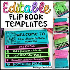 Learning in Wonderland Back-to-School Flip Book