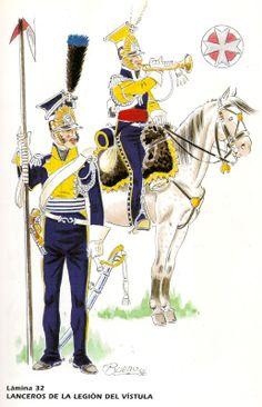 Tromba e lanciere della legione della Vistola in Spagna