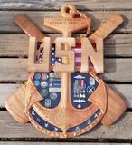 Chief Senior or Master Chief Anchor Shadow Box Shadowbox Ideas, Military Shadow Box, Us Coast Guard, Scroll Saw Patterns, Retirement Gifts, Master Chief, Anchor, Lockers, Boxes