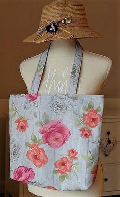 Taška s podšívkou Burlap, Reusable Tote Bags, Handmade, Hand Made, Hessian Fabric, Craft, Jute