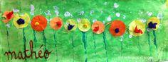 jardin-fleuri-PS2 School Art Projects, Art School, Painting For Kids, Art For Kids, Flower Collage, Art Graphique, Preschool Art, Early Childhood, Art Lessons