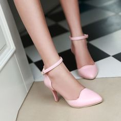 Fashion Ankle Straps Sandals Pumps High Heels Women Dress Shoes 2993