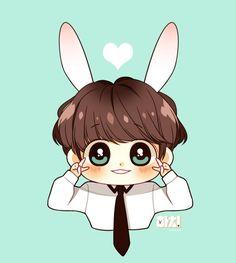 Jungkook Fanart, Kpop Fanart, Bts Jungkook, Jikook, K Pop, Different Kinds Of Art, Cartoon Fan, Chibi Characters, Fictional Characters