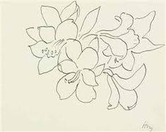 "Henri Matisse ""Fleurs et feuilles"" - Flower Line Drawing Franz Kline, Matisse Tattoo, Matisse Drawing, Henri Matisse, Willem De Kooning, Oil Painting Abstract, Watercolor Paintings, Watercolor Artists, Oil Paintings"