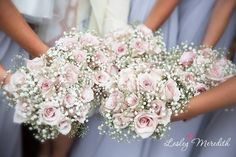 gypsophilia bouquet bridesmaids pink - Google Search