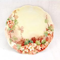 Haviland Limoges Hand Painted Cherry Blossoms Plate Circa Early 1900s from maggiebelles on Ruby Lane