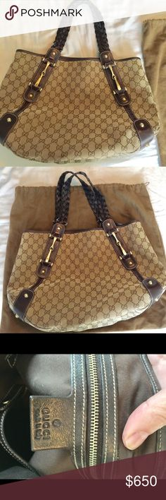 Gucci hobo shoulder bag braided Authentic Gucci bag. Well taken care of and loved. Comes with dust bag Gucci Bags Shoulder Bags