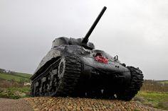 Sherman Tank, Slapton Sands, Torcross, Devon by Fortaguada www.bythedart.tv #Dartmouth