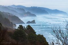 Oregon Coast south of Cannon Beach. Viewed from the side of Hwy 101.   - #funny #lol #viralvids #funnypics #EarthPorn more at: http://www.smellifish.com