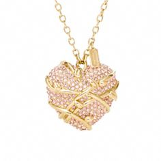Coach- PAVE HEART VINE NECKLACE