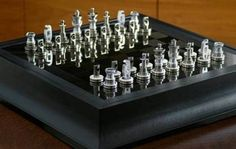 The Most Expensive Chess Set in the World-1. Renault F1 Team Collection Chess Set The carbon fibres from the F1 car of Renault have also been used to design the game board. Priced at about 42,000 USD