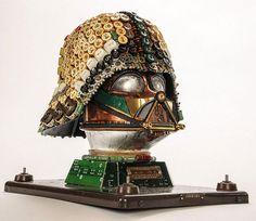 Darth Vader Upcycled Mask
