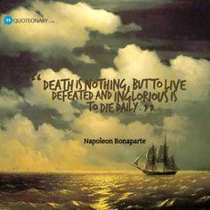 Napoleon Bonaparte quote about defeat