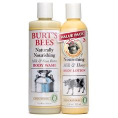Burt's Bees Value Pack - Naturally Nourishing Body Lotion & Body Wash 1 set by Burt's Bees. $17.94. Value of the items if purchased seperately is $17.98. You save $4.99 by purchasing the Value Pack
