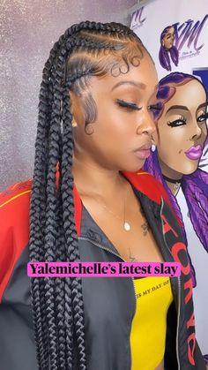 Braided Cornrow Hairstyles, Feed In Braids Hairstyles, Box Braids Hairstyles For Black Women, Braids Hairstyles Pictures, Black Girl Braids, Baddie Hairstyles, Braids For Black Hair, Hair Pictures, Black Hair Braid Hairstyles