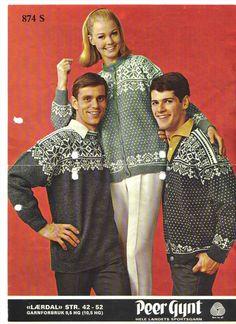 Lærdal 874 S. Sandnes Uldvarefabrik A/S. Stirrup Pants, Norwegian Knitting, Sweater Design, Knitting Patterns, Sweater Patterns, Wool, Retro, Men, Knit Sweaters