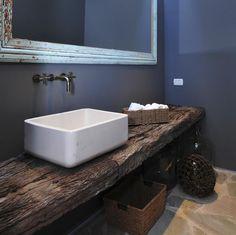 Resultado de imagen para mesadas baños con durmientes