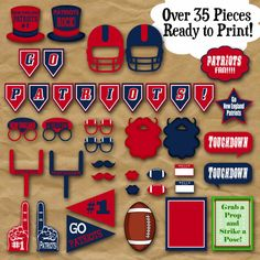 Patriots Football Party Printables And Decorations
