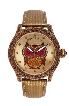 LOVE!!! Betsey Johnson 'Bling Bling Time' Owl Dial Watch