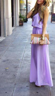 Jumpsuit Purple with clutch