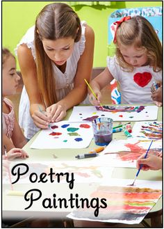 Corkboard Connections: Poetry Paintings - guest blog post by Chelsea Allen