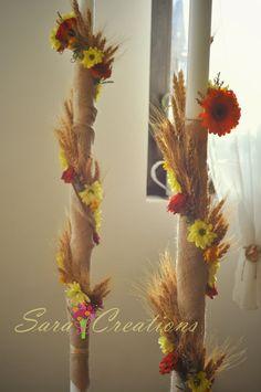 Sara Creations: Buchete mireasa Romanian Wedding, Rustic Decor, Wedding Decorations, Wedding Ideas, Rustic Wedding, Wedding Flowers, Candles, Weeding, Ideas Para